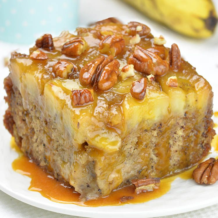 Banana Upside Down Cake - incredibly moist and flavorful dessert