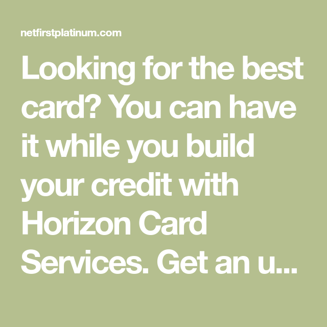 Looking For The Best Card? You Can Have It While You Build
