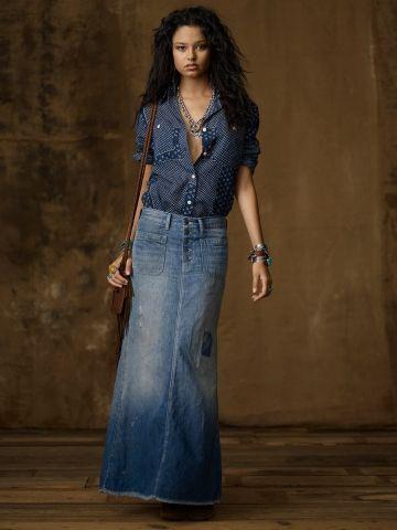 17 Best images about Modest denim skirts on Pinterest | Maxi ...