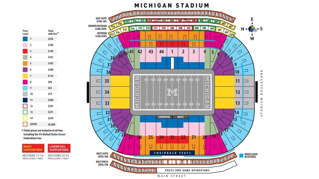 Michigan Football Seating Chart
