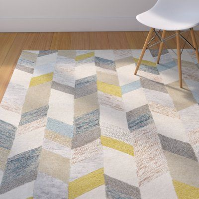 Christine Hand Tufted Gray Gold Area Rug Grey Area Rug Yellow