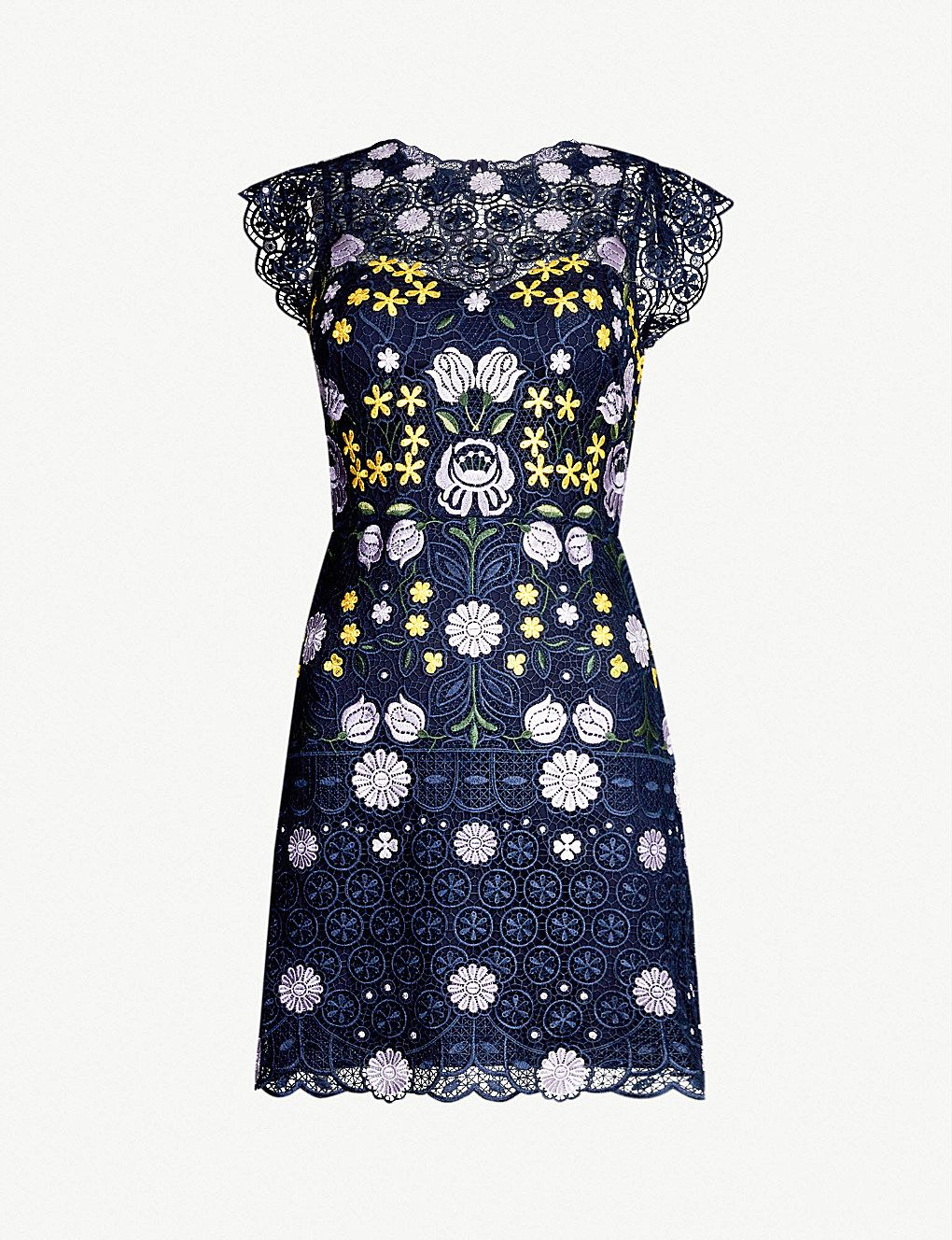 Karen Millen Garden Party Floral Embroidered Lace Mini Dress