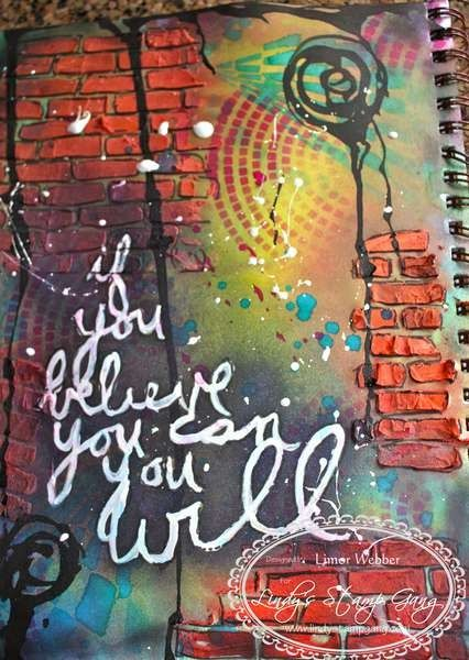 Graffiti Art Journal Page - If you believe you can, you will.