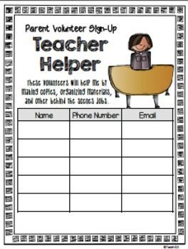 school volunteer forms tips a back to school resources