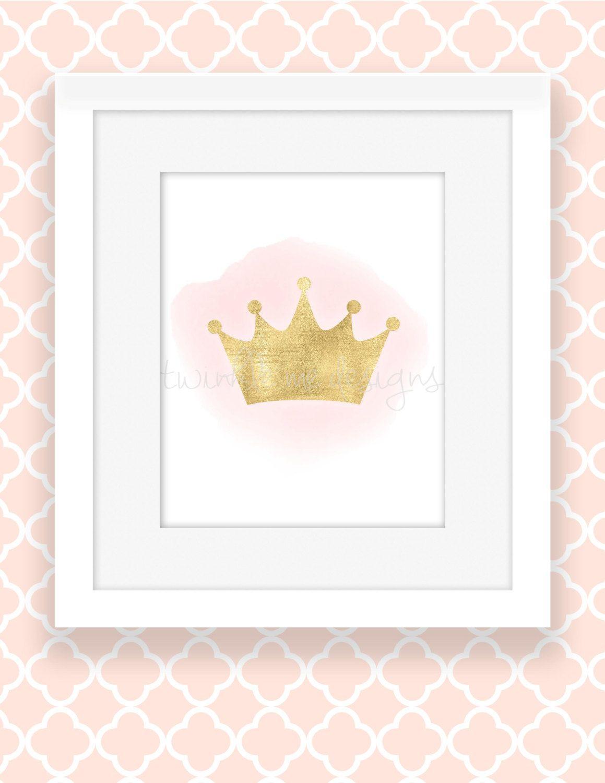 Pink And Gold Princess Wall Decor Girl Nursery Decor
