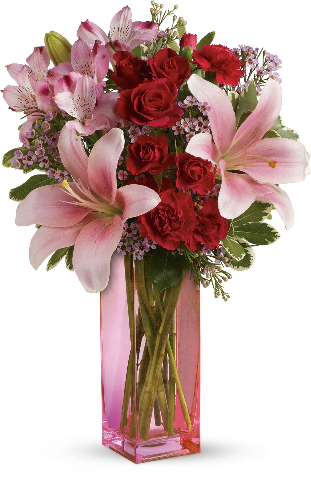 Teleflora Valentines flowers, Pink lily flower