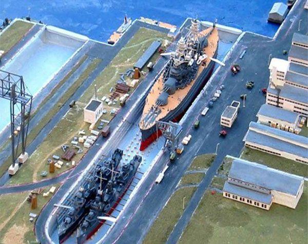 Ford Island, Pearl Harbor, Hawaii Diorama by Richard Smith