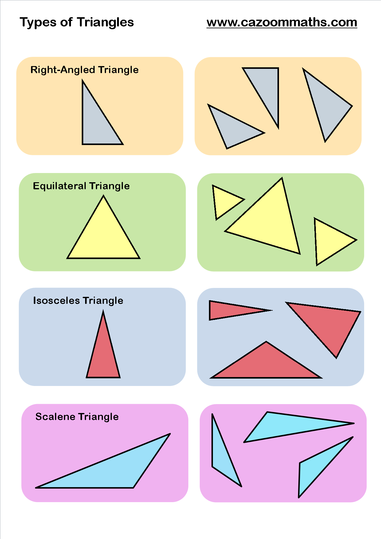 Worksheets Types Of Triangles Worksheet gcse maths geometry worksheets pinterest triangle and maths