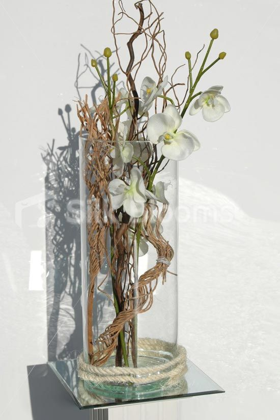 Houston Cream Orchid Large Table Jpg 550 825 Pixels Modern Bridal Bouquets Flower Arrangements Silk Flowers Wedding