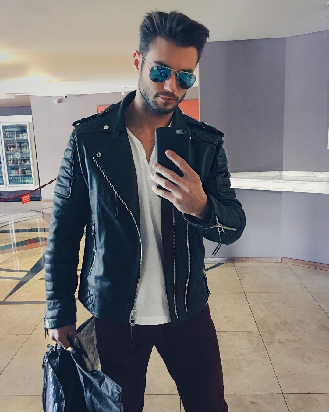 Amadeoleandro Jackets Men Fashion Leather Jeans Men Best Mens