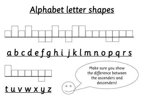 42++ Handwriting worksheets descenders Images