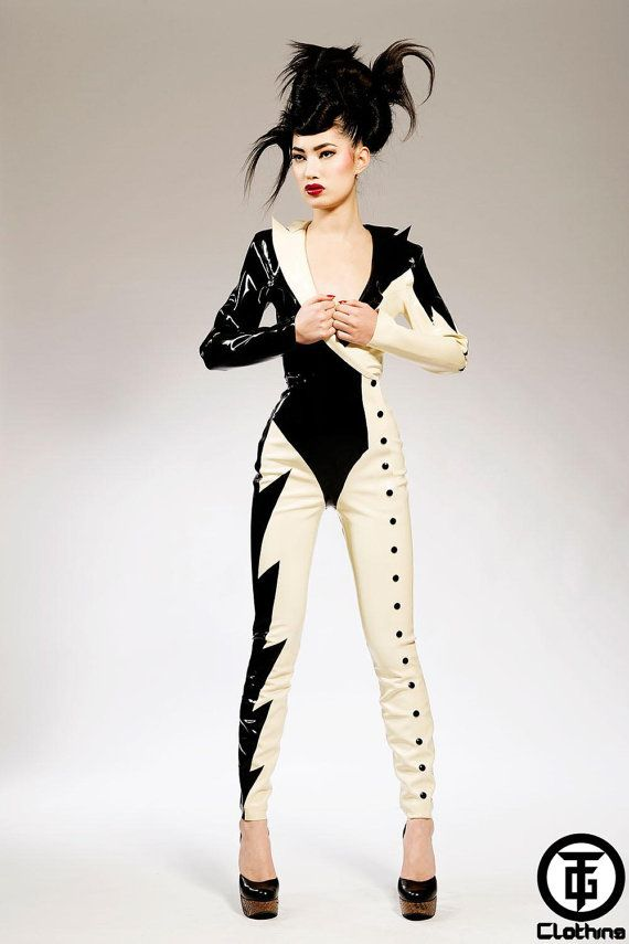 7a14542c4e7 TG BOWIE Latex Rubber Catsuit by HOUSEofHARLOT on Etsy