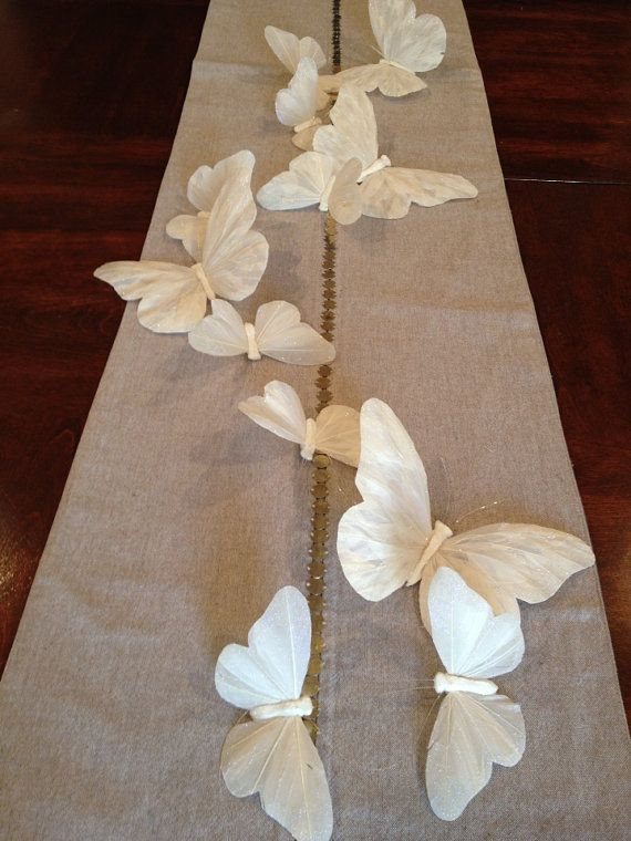 Feather Butterfly Garland streamer party by beautifulbliss on Etsy, $24.95
