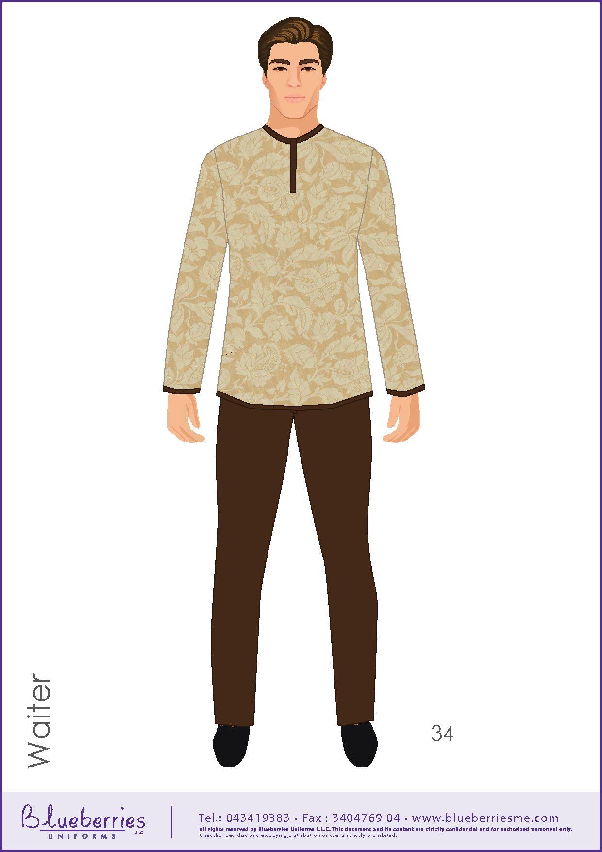 Waiter Uniform Supplier Saudi - Waiter uniform, Restaurant ...
