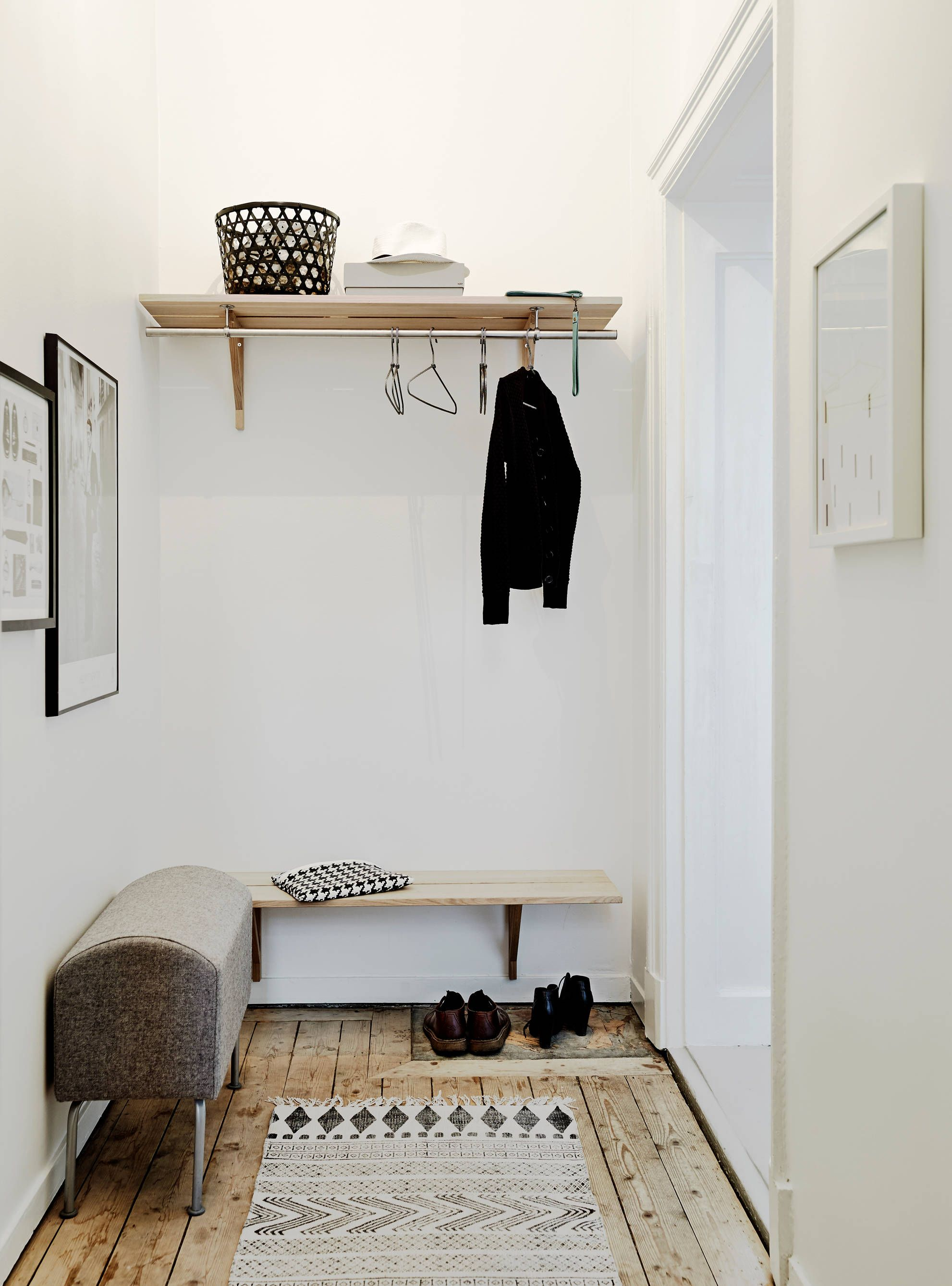 Decoration Hall D Entree Appartement Entrée De Style Scandinave Entrée Et Couloir Pinterest