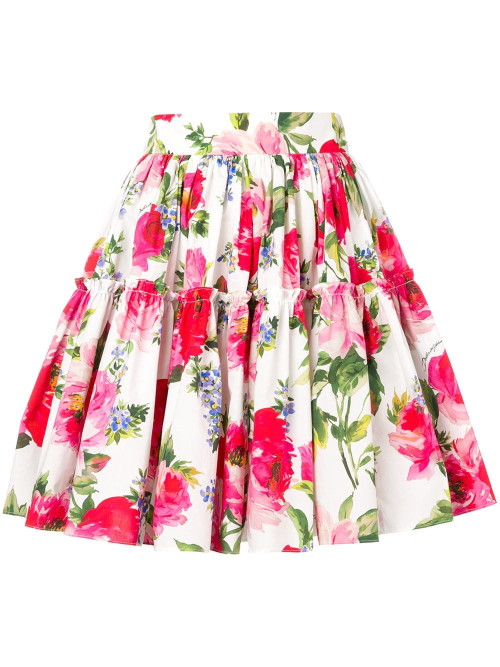287fcbc13bae56 Dolce & Gabbana floral-print skirt - White in 2019 | Products ...