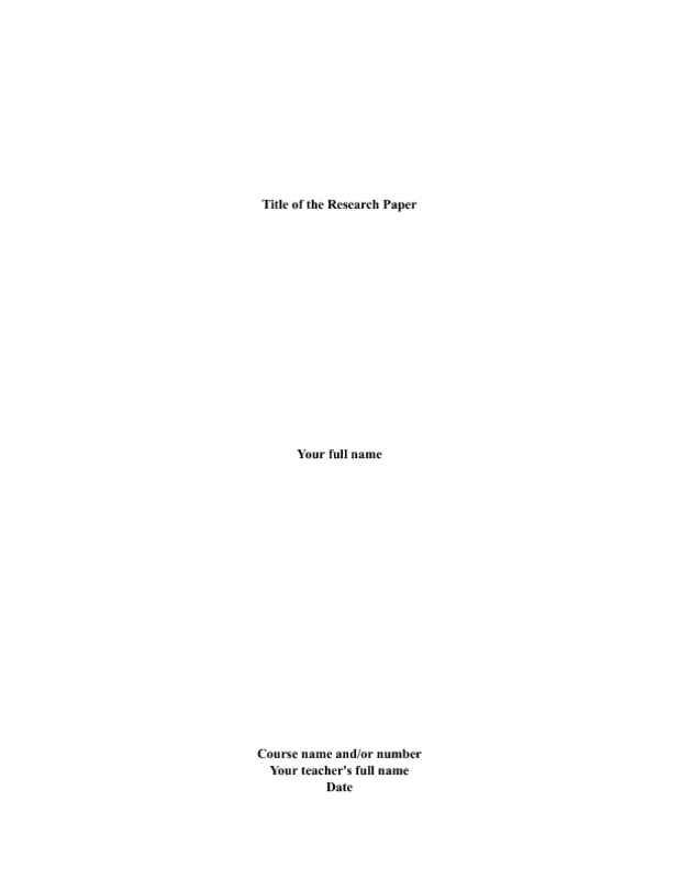 cover page for a college research paper Learn how to prepare a title page in apa format  the first page of your psychology paper  the location where the research was conducted, most often a college.