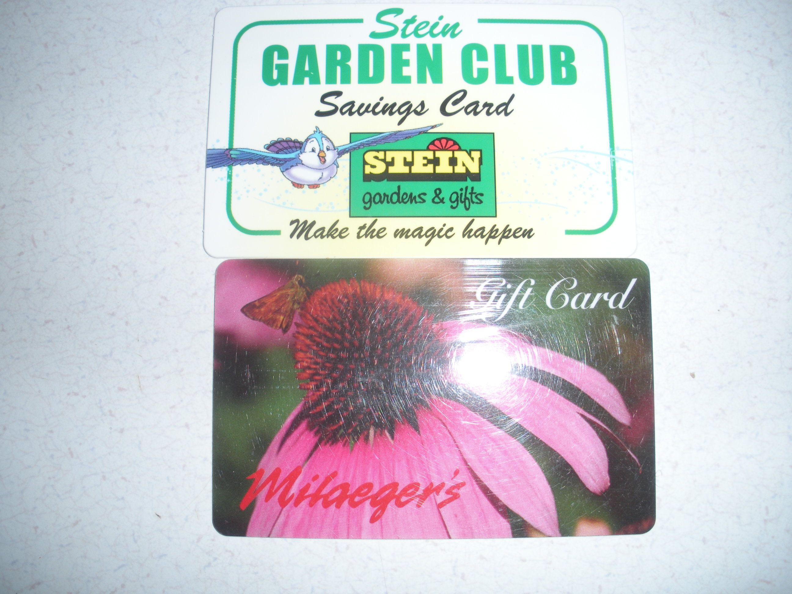Garden Center Gift card and Customer Reward card. Gift Cards for ...