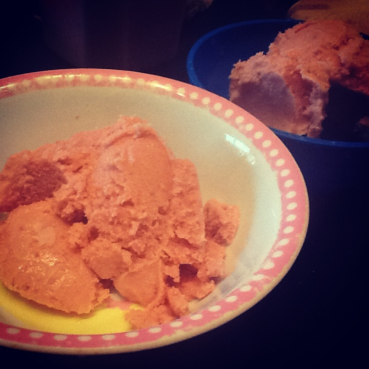 Raw Strawberry Ice Cream (dairy-free)