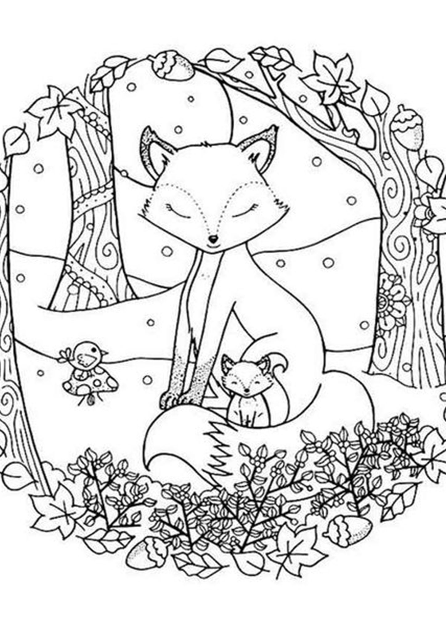 Free Easy To Print Fox Coloring Pages Coloring Pages Winter Fox Coloring Page Animal Coloring Pages