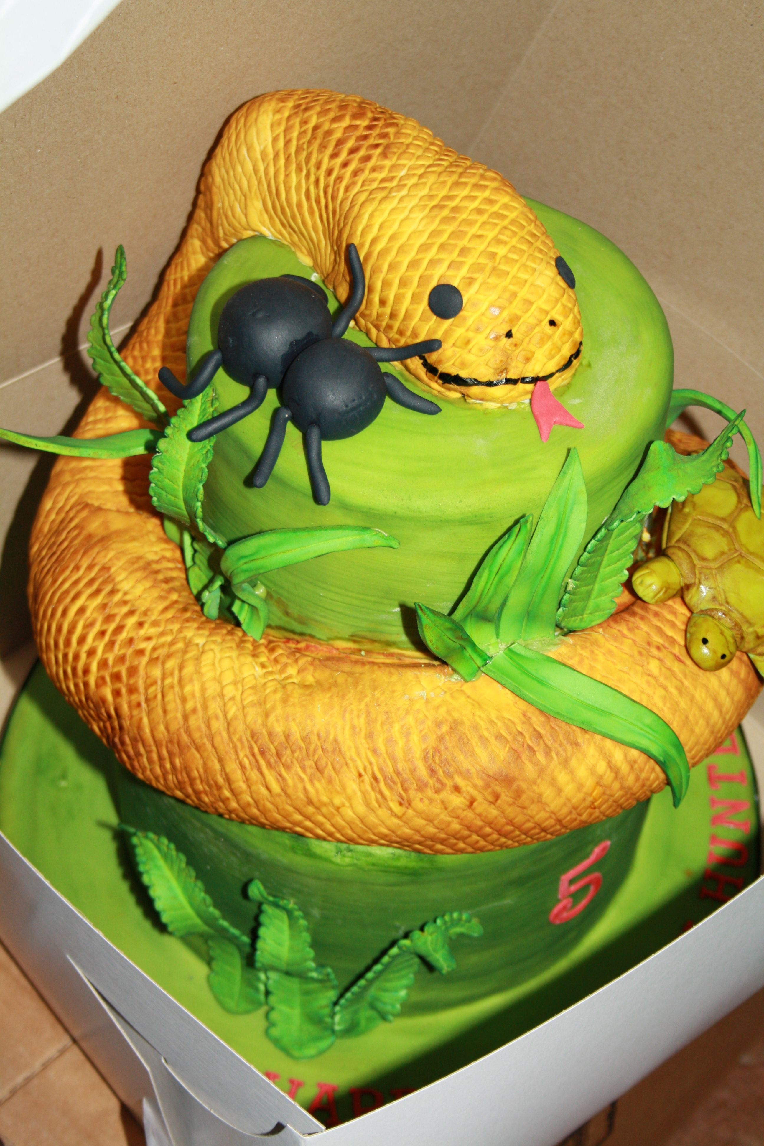 Reptile Snake Cake Hunter S Reptile Party Snake Cakes