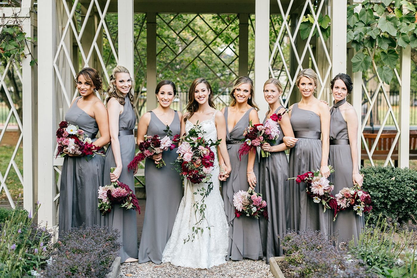 1950s glamour meets modern fall chic wedding in philadelphia 1950s glamour meets modern fall chic wedding in philadelphia grey bridesmaidsgrey bridesmaid dressesparty ombrellifo Gallery