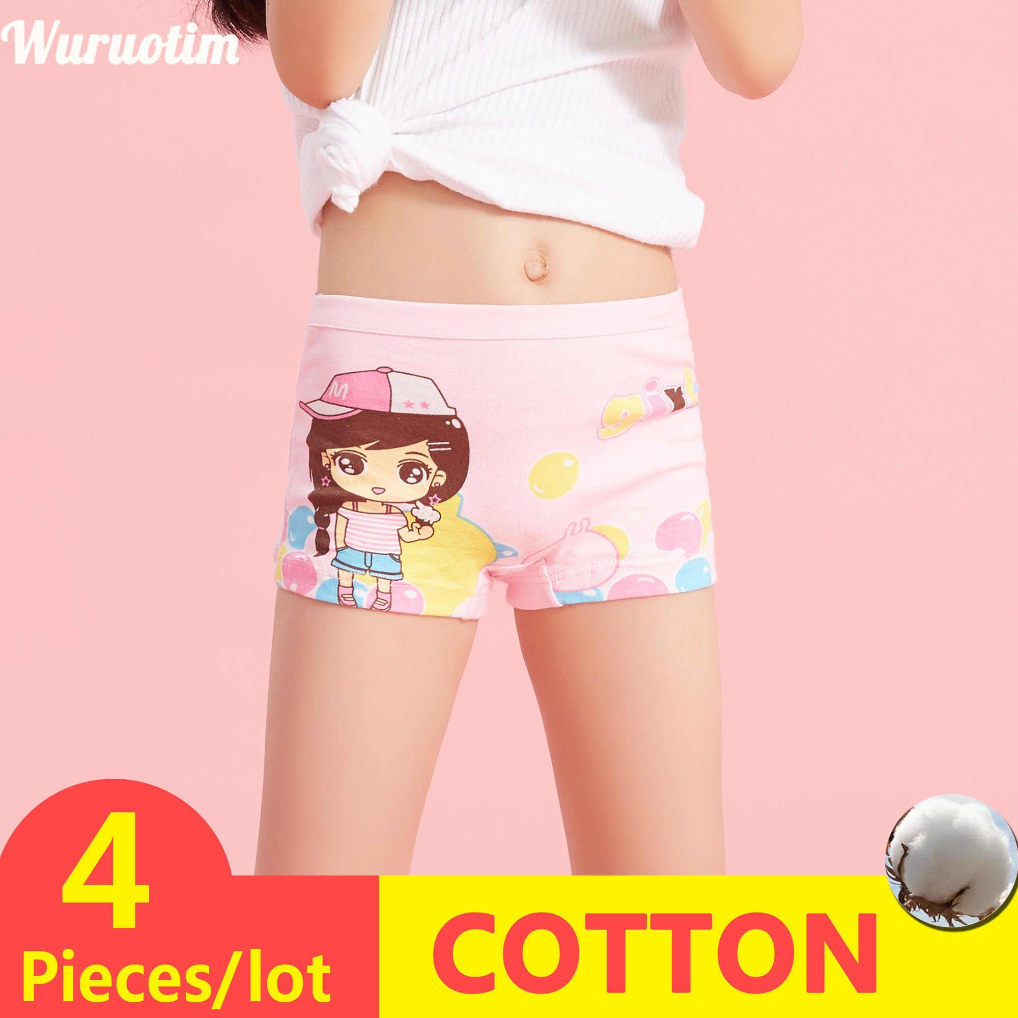 UK NEW Children Briefs Underwear Knickers Cute Boxer Kids Underpants Girls Short