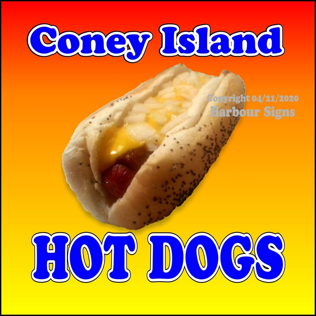 Chicago Hot Dogs DECAL Concession Food Truck Circle Sticker Choose Your Size