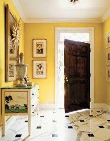 yellow hallway hallways pinterest yellow walls foyer and yellow