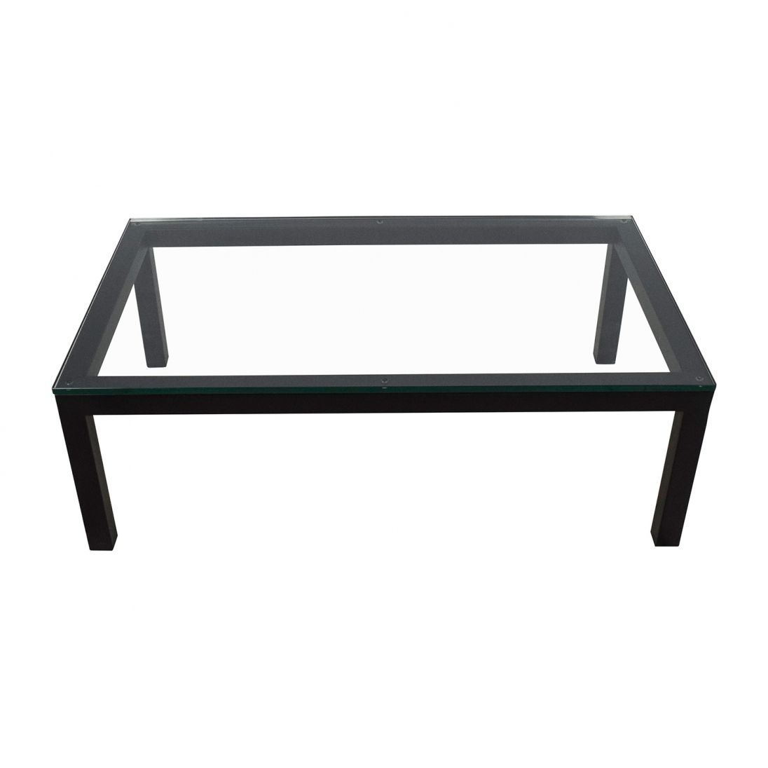Glass coffee table in living room crate and barrel glass coffee table  contemporary living room