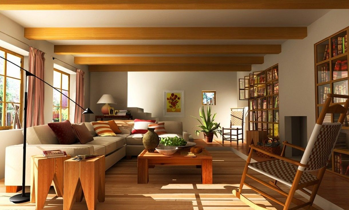 Asian or aen living room