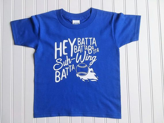 Hey Batta Batta Kids Shirt Kids Baseball or Softball Tee in your choice of colors. Quality affordable tees because every child deserves cute apparel