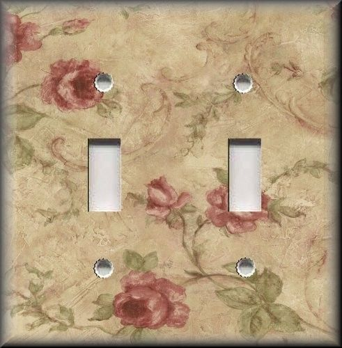 Light-Switch-Plate-Cover-Floral-Decor-Vintage-Roses-Home-Decor-Rose ...