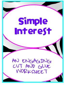 simple interest engaging cut and glue activity 7 rp 3 middle