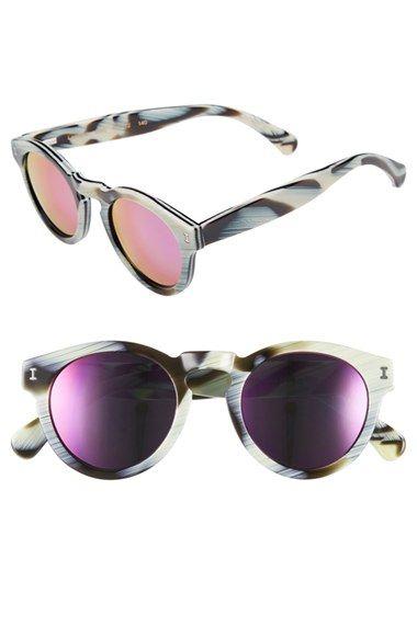 16cede61a3 Illesteva  Leonard  47mm Mirrored Sunglasses available at  Nordstrom ...