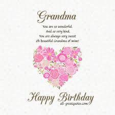 Grandmother Birthday Quotes. QuotesGram via Relatably.  Happy