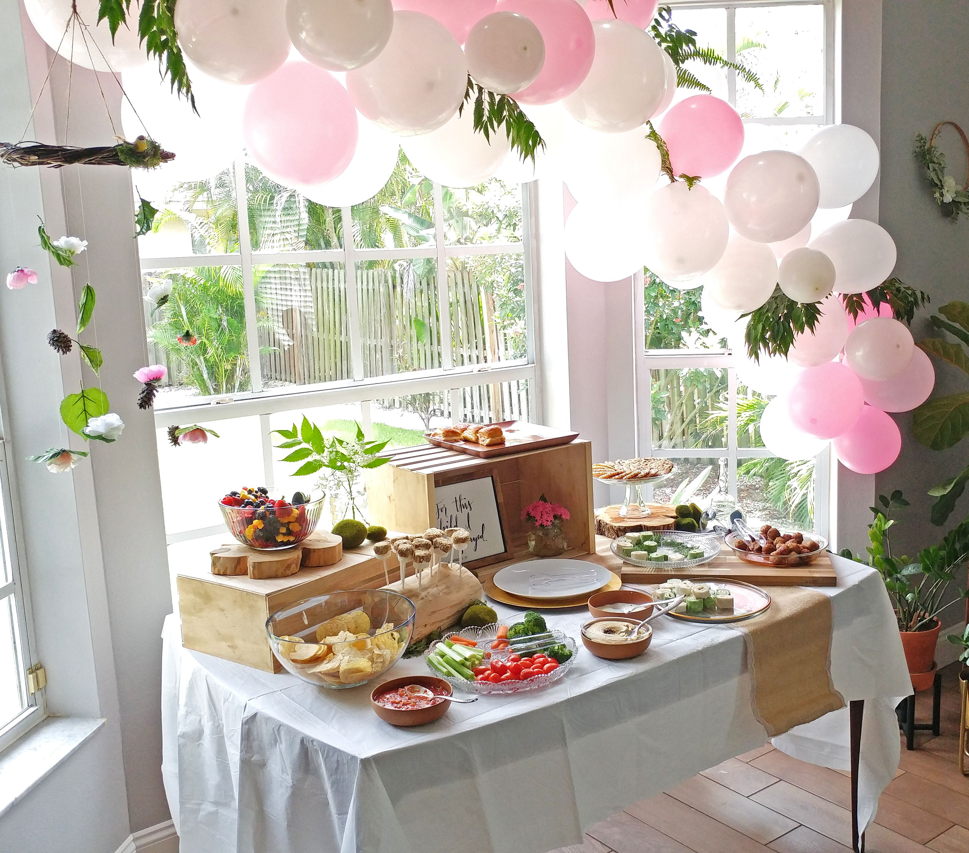 Enchanted Forest Baby Shower Food Table Enchanted forest
