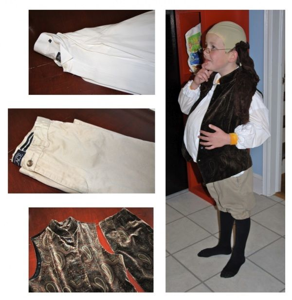 Size Extra Large Colonial Man//Benjamin Franklin Child Costume