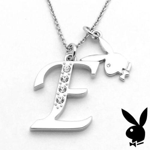 Playboy necklace initial letter e pendant bunny charm crystals playboy necklace initial letter e pendant bunny charm aloadofball Choice Image