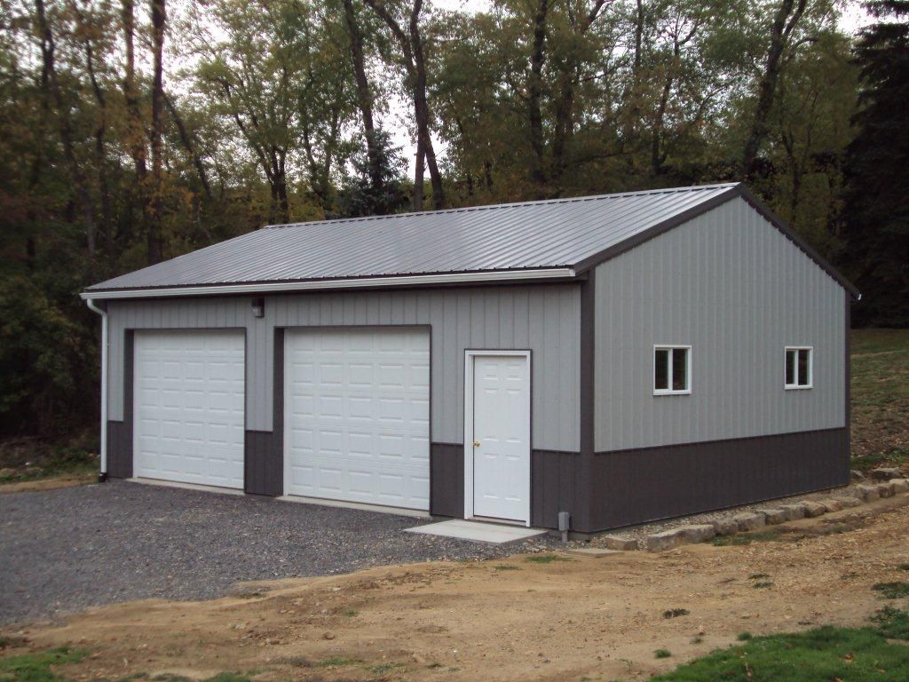 Residential pole barn garage polebarn garage storage for Residential pole barn homes