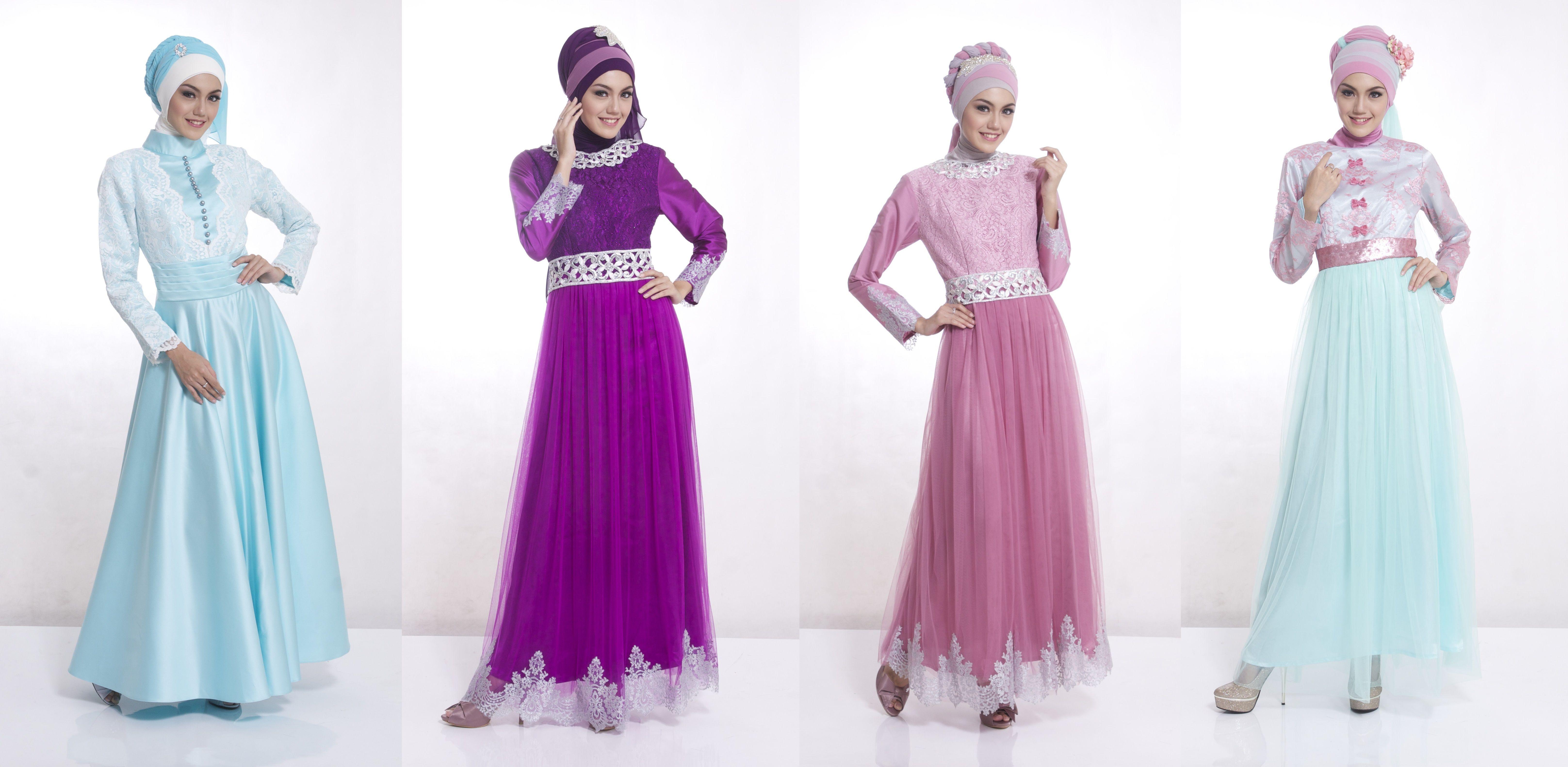 Model Baju Gamis Pesta Terbaru Busana Muslim Wanita Terbaru