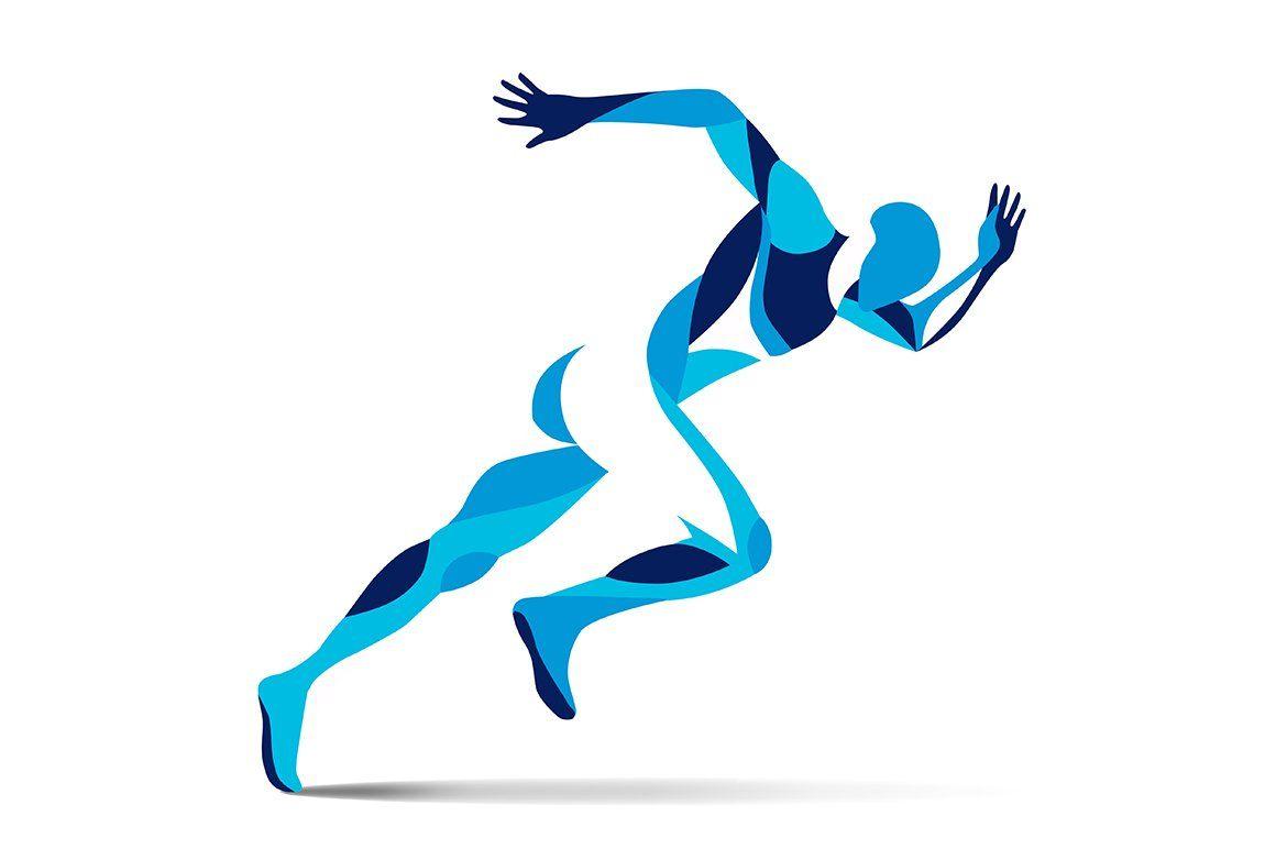Stylized Running Man Running Artwork Running Illustration Poster Background Design