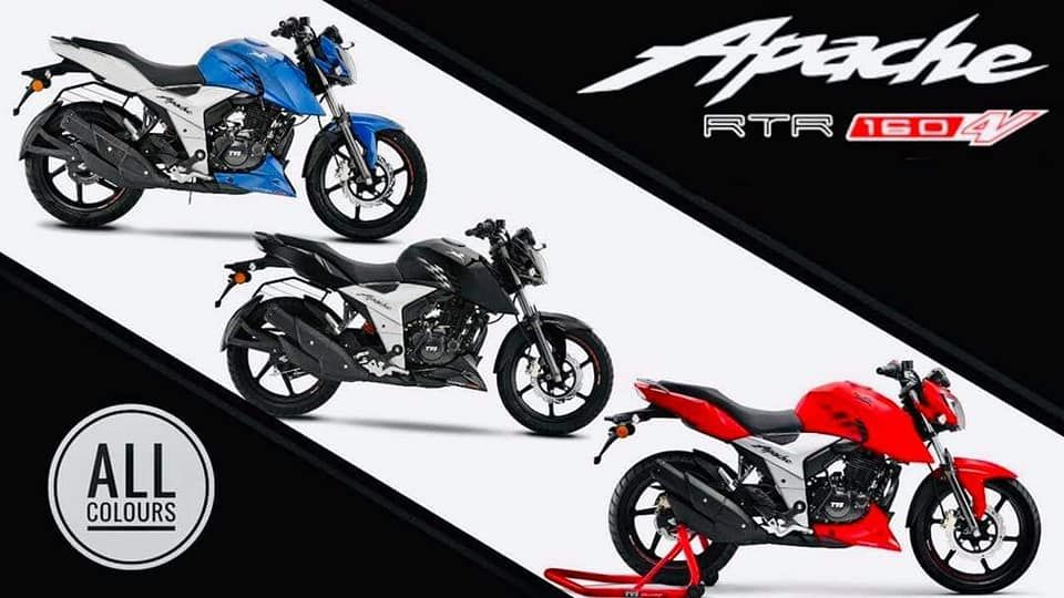 The TVS Apache RTR 160 4V is available in the Carburetor