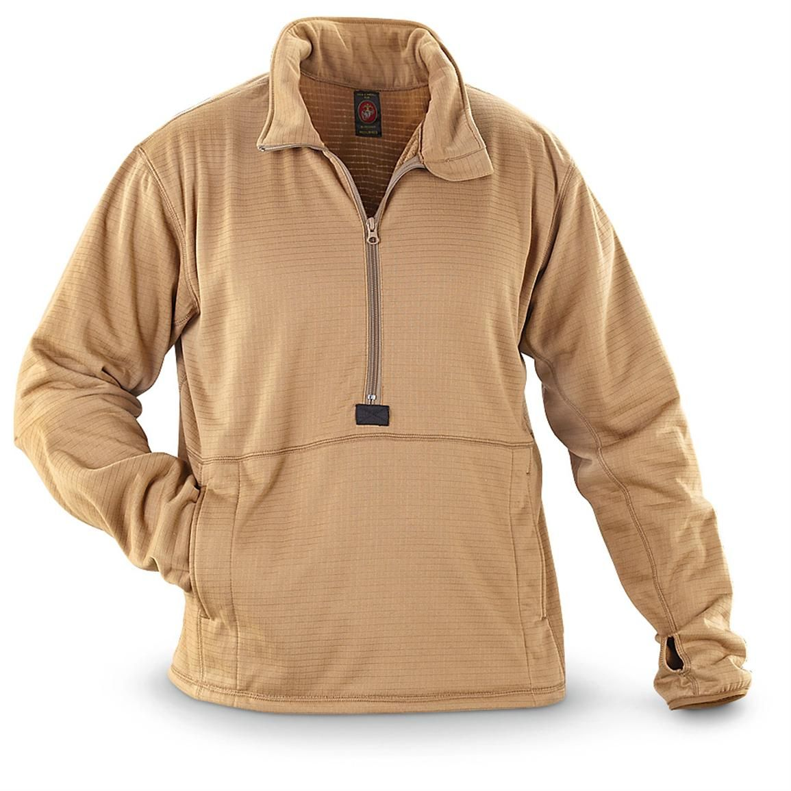New U.S. Military Surplus Grid Fleece Pullover, Coyote $29 ...