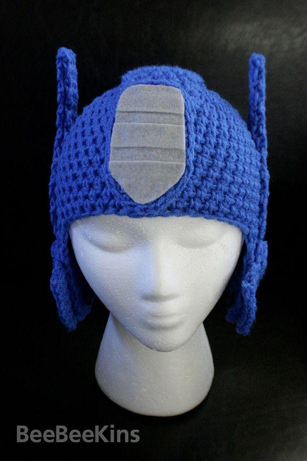 Optimus Prime Crochet Hat Winter In Cybertron Crochet Crochet