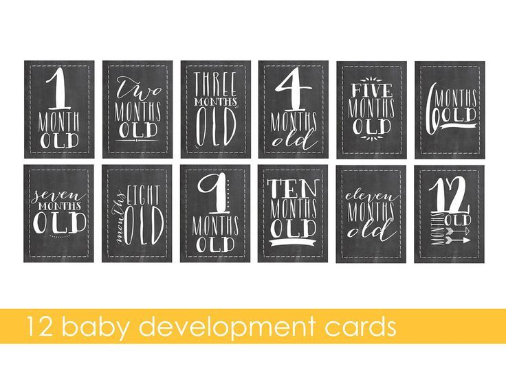 Baby's First Year / Baby Development / 5×7 printable art ...
