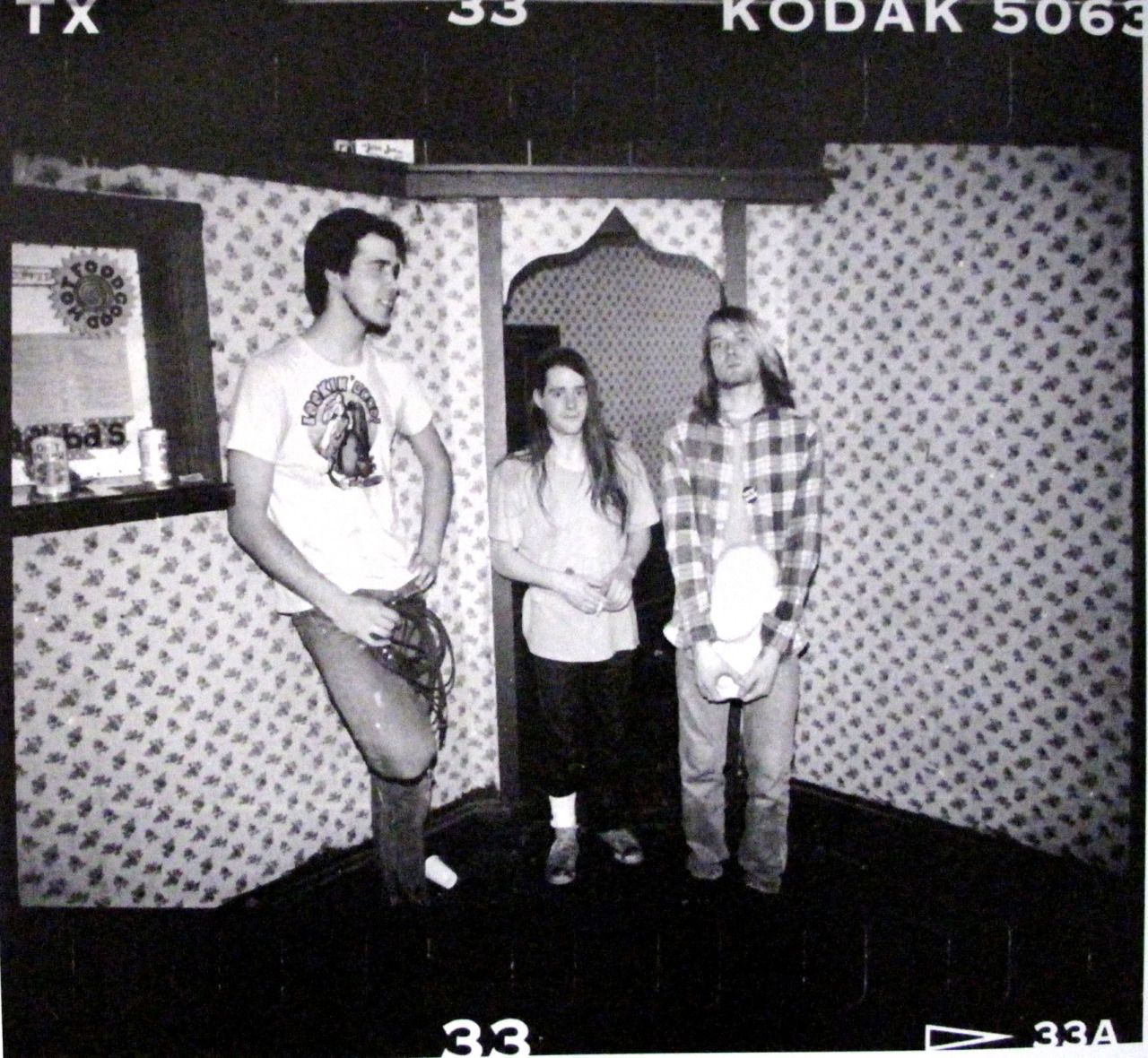 Nirvana at Raji's in Hollywood, CA, US. February 15th, 1990. Photographs by Kirk Dominquez