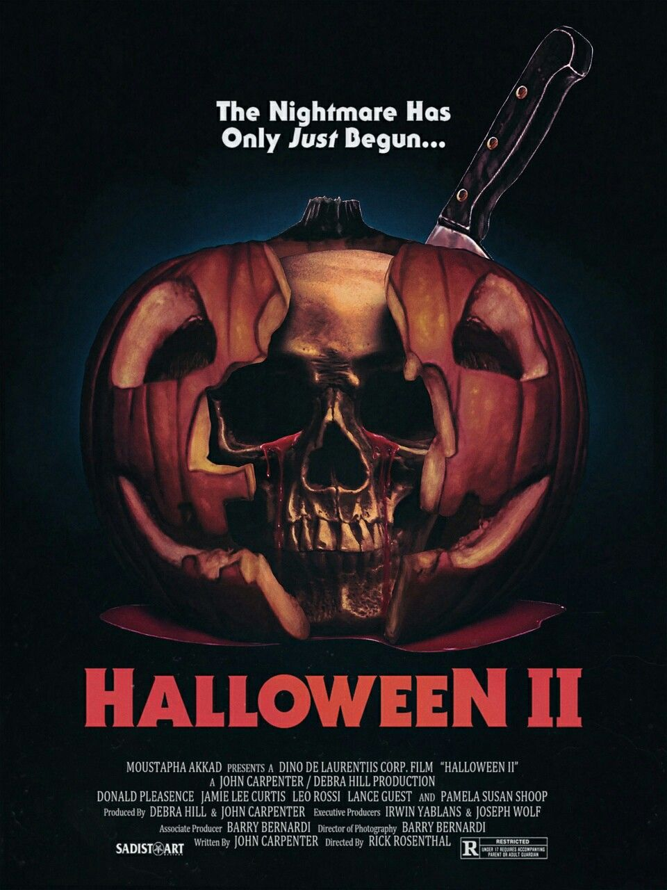 Halloween 2 horror movie poster Slasher | Killer Movie ...