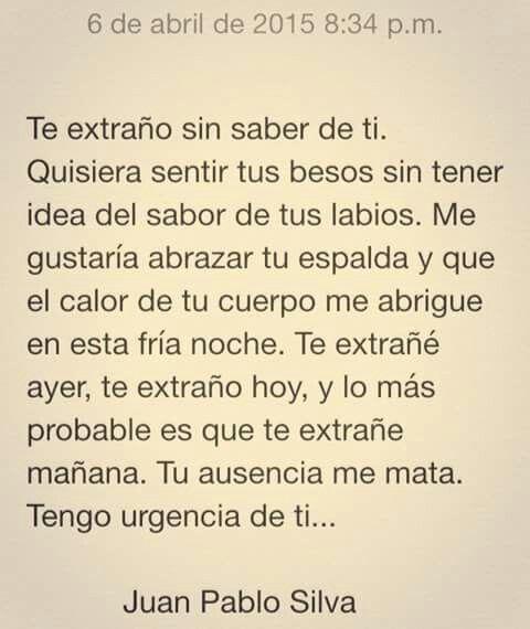Palabras de Amor y de Aliento ❤ Juan Pablo Silva ...