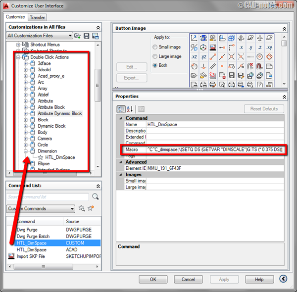 Automatic AutoCAD dimension spacing using double click